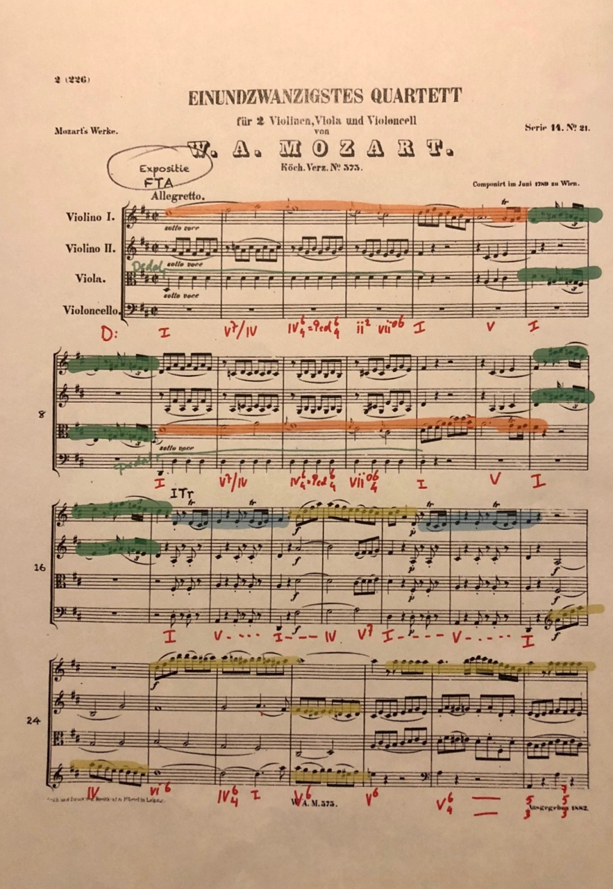 Mozart: String Quartet no. 21 in D major, KV 575